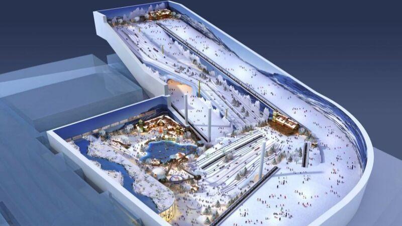 På innsiden av verdens nest største innendørs skianlegg