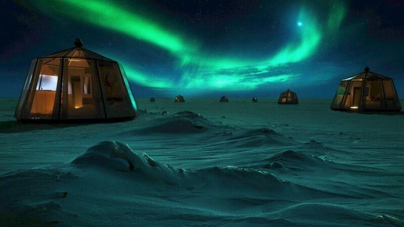 Vil du bo på nordpolen? Ny ide om igloo hotell