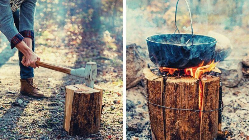 Tømmerhugger Bålet: Et smart & raskt bål som varmer