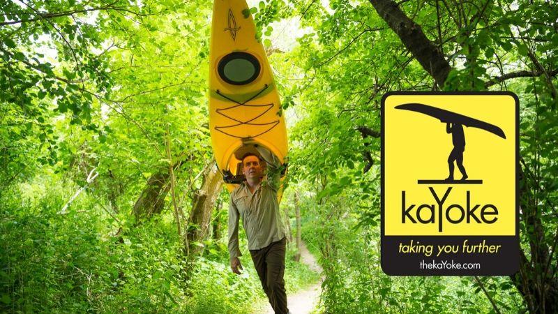 Kayoke – Smart, lavvekt bæresystem til kajakk for en person
