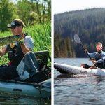oppblåsbar kajakk til fiske og fritid